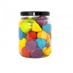 Bote Medio Galón Nubes de azucar Rainbow. Chuches Marshmallow sabores. Wonkandy
