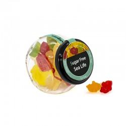 Bote candy crsital Sea Life. Gominolas sin azúcar
