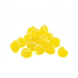 Bote pequeño Gominolas Berries Limón. Chuches hechas de fruta 100% natural. Wonkandy