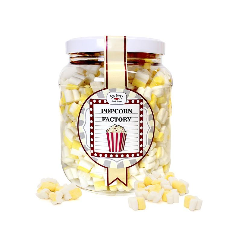 Bote Grande Nubes de azúcar PopCorn. Chuches sabor vainilla. Sweets Through the Ages.Wonkandy