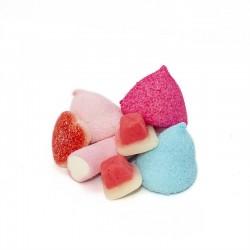 Bote pequeño Nubes de Azúcar y gominolas San Valentín. Golosinas Wonkandy
