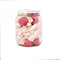 Bote grande de nubes de azucar Mix Rosa. Chuches Fresa y Vainilla. Wonkandy