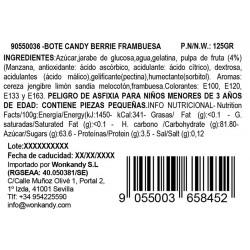 Ingredientes Gominolas Berries sabor Frambuesa. Chuches Wonkandy
