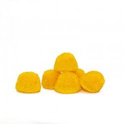 Botella rellena de gominolas crujientes  con forma de Moras. Chuches con sabor a Limón.Wonkandy
