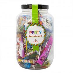 Surtido de Caramelos y Piruletas Party Sweets Through the Ages. Chuhes de varios sabores. Wonkandy