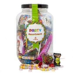 Surtido de Caramelos y Piruletas Party Sweets Through the Ages. Chuhes de varios sabores. Wonkandy