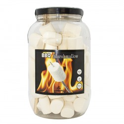 Bote gigante nubes de azúcar Masrhmallow BBQ sweets through the ages.Chuches sabor vainilla. Wonkandy