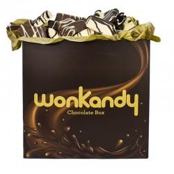Caja Chocolate Wonkandy XXL. Surtido de esponjosas Nubes de azúcar  bañadas en tres chocolates.