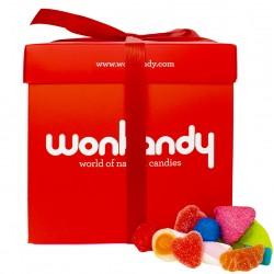 Caja Roja Wonkandy XXL. Surtido de esponjosas Nubes de azúcar  y gominolas.